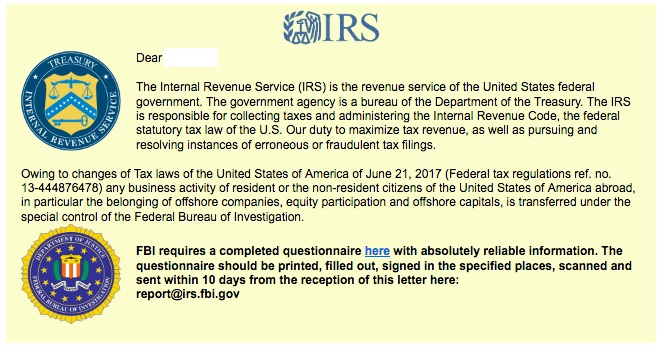 IRS Sample Image